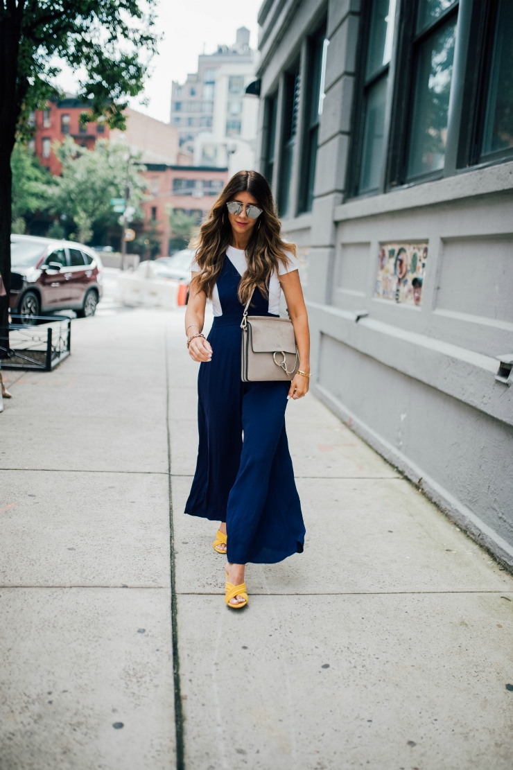 Jumpsuit, Yellow Shoes, NYFW, Street Style, Chloe Handbag