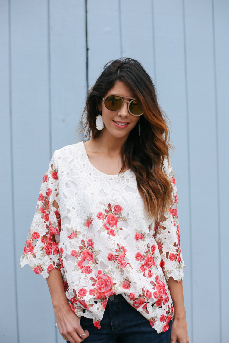 875047028bfe04 FLoral lace top 9