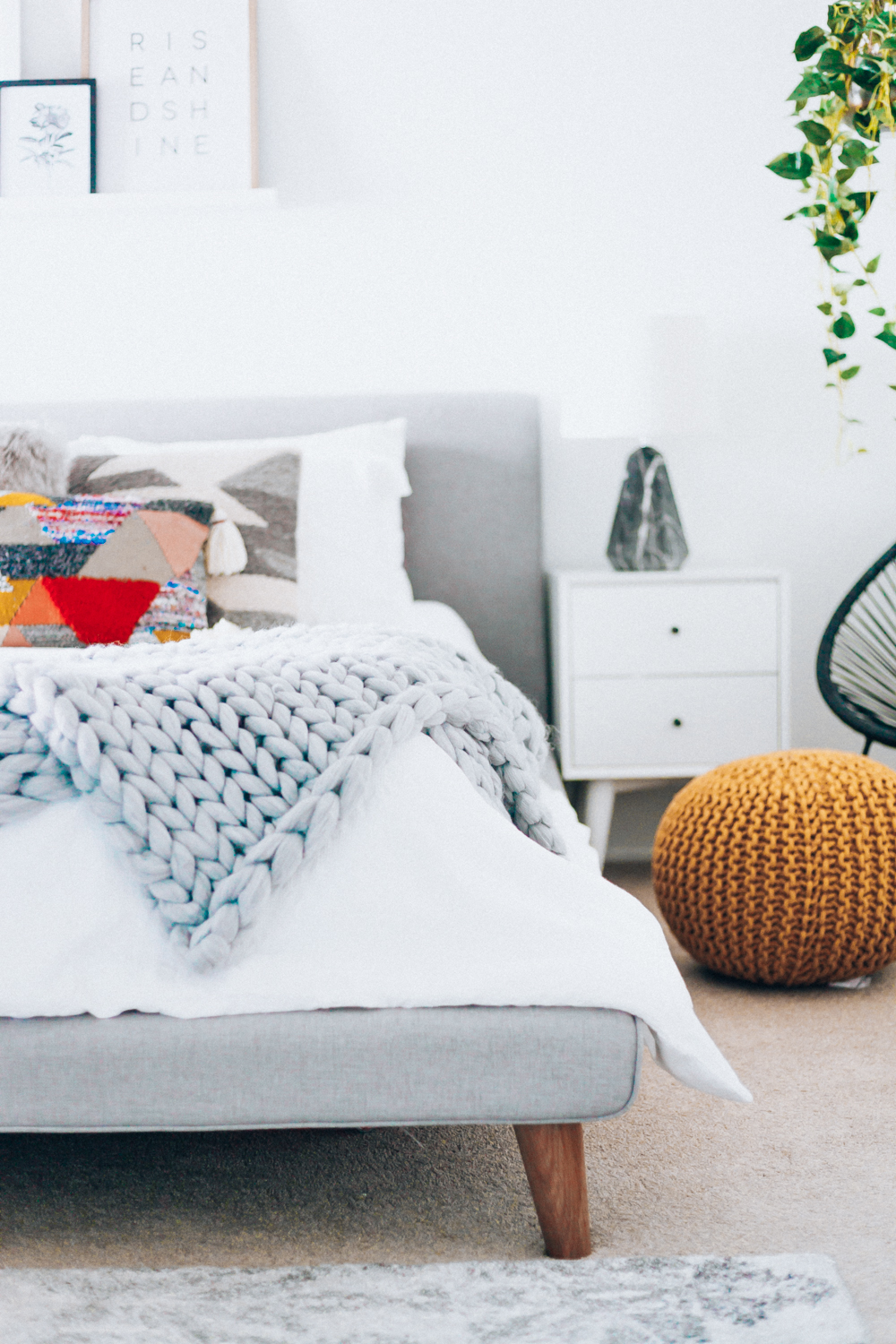 Our New Bedroom Furniture with Feather | The Girl in the ...